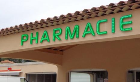 enseigne lumineuse pharmacie