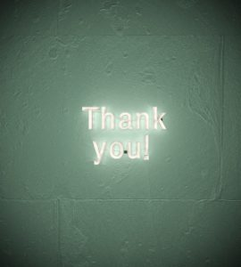 merci en lettre lumineuse